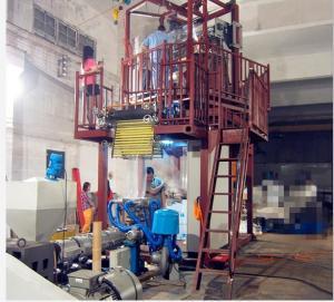 Plastic Blown Film Extrusion Machine 70 - 80kg / H Output 1000mm Width Manufactures