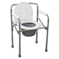 Stainless Steel Blow Moulding Products Elderly Toilet Chair With Plastic Armrests Manufactures