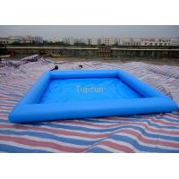 Safe 5*5m Blue Kids Inflatable Paddling Pool , 0.9mm PVC Tarpaulin Manufactures