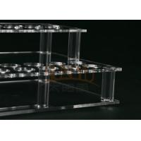 Customized Clear Acrylic Makeup Display Stand Lipstick Display Holder Manufactures