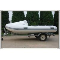 Grey 1.2mm PVC 3 Person Motorized Inflatable Yacht Tenders With Canopy / Trailer Manufactures