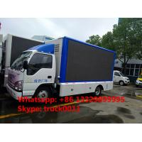 HOT SALE! 2017s new ISUZU 4*2 LHD mobile LED truck with 3 sides P6 LED screens, best price ISUZU P6 LED billboard truck Manufactures