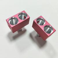 Counterbore 4 Axis CNC Machining Aluminum Parts with Pink Color Sandblasted Anodized Manufactures