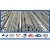 Silver Galvanized Steel Electrical Power Pole For Transmission Galvanized Line Manufactures