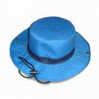 Men's Cowboy/Fisherman Hat with Polyester Lining and Long String, Made of 100% Cotton Twill Manufactures