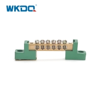 Green Terminal Bus Bar Screw Connection Electrical Ground Terminal Block With Holder Manufactures