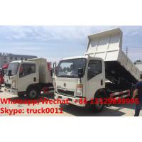 Quality High quality and good price customized SINO TRUK HOWO 4tons dump tipper truck, for sale