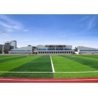 Natural Looking Artificial Football Turf Fake Lawn 60mm Pile Anti Color Fading Manufactures