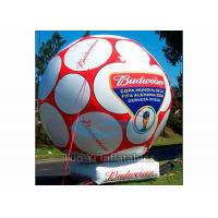 Giant Inflatable Football Sports Themed Balloons White / Yellow For Advertising Manufactures