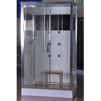 Luxury Massage Corner Shower Stalls , Rectangular  Shower Cabin with bamboo seat 1200x800x2150mm Manufactures