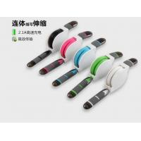 High Speed 2 in 1 usb data cable sync charger Telescopic line Retractable usb cable iphone Manufactures