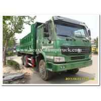 10 Wheel dump truck 35 tons green cabin 20m3 body cargo and parabolic leaf spring tipper dump Truck Manufactures
