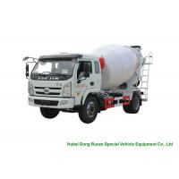 YUEJIN 5m3 Small Concrete Mixer Truck With Pump , 4x2 Mobile Mixer Truck Manufactures