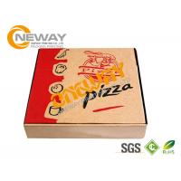 China Hand Made Recycle E Flute Printed Food Packaging Boxes , Corrugated Pizza Boxes on sale