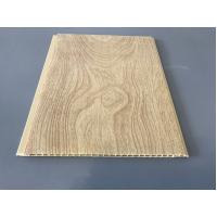 10 Inch × 7.5mm PVC Ceiling / Wall Panel Peanut Wood Pattern Smooth Slab Manufactures