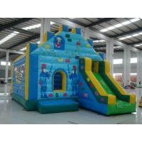 Kids Outdoor Small Dora Moonwalk Inflatable Sports Games , Blue Bouncy Castle Manufactures