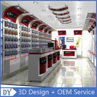 Quality Custom Popular Retail Wood Glass Mobile Shop Counter Design For Mobile phone store for sale