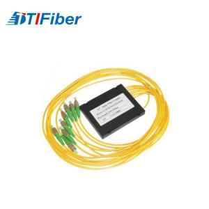 Customized yellow FTB ABS Fiber splitter ABS box apc fiber optic pigtail Manufactures