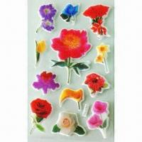 3-D Puffy and Foam Stickers, Available in Various Styles and Designs, OEM Orders are Welcome Manufactures