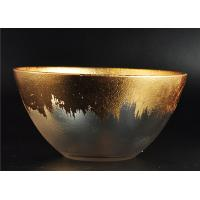 Clear Bowl Shape Glass Candle Holder with Golden Coating for Wedding Decor Manufactures