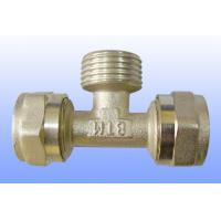compression brass fitting male tee for PEX-AL-PEX Manufactures