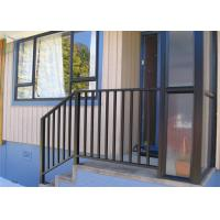Quality Rot Proof Aluminum Exterior Railings , Aluminum Stair Handrails For Outdoor Steps for sale