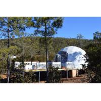 White PVC Wind Resistant Sidewall Party Geo Dome Tent With Steel Manufactures