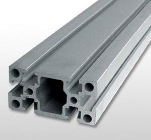 Silver Industrial Aluminium Profile , Alloy 6061 T6 Aluminium Extrusion Manufactures