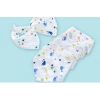 Buy cheap 4 Layers 100% Comed Cotton Newborn Bibs With 45*30cm Size , Eco Friendly from wholesalers