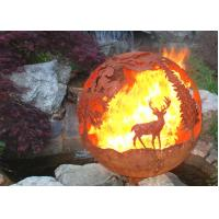 Corrosion Stability Corten Steel Sphere Fire Pit Deer For Garden Decoration Manufactures