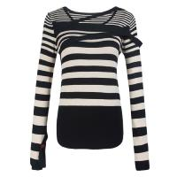 Customized Nylon Striped fall sweaters women long sleeved sweater Manufactures