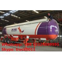 Chengli brand 3 axles 48700L 26 ton anhydrous ammonia lpg transport trailer with sunshield cover, ammonia tank trailer Manufactures