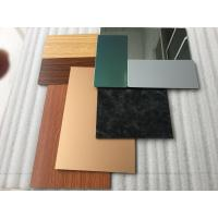 Pearl Green ACM Composite PanelRigidity For Vehicle / Furniture Decoration Manufactures