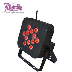 Battery Powered 12LED RGBWA PAR LED Wireless Dmx512 Control Led Slim Par Manufactures