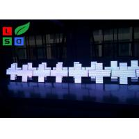 Quality 480x480mm Green Color LED Cross Sign With Bracket For Pharmacy Shop Front for sale