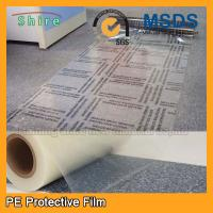 Self Adhesive Carpet Protector Film , Transparent Plastic Carpet Film Protector Manufactures