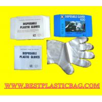 Buy cheap Disposable transparent PE glove with good quality from wholesalers