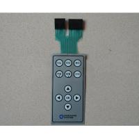 Light Weight Small Dustproof Push Button Membrane Switch With Two Connector Manufactures