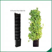 Eco Friendly 8 Pocket Vertical Garden Kit Wall Garden Growing Bags 25x13cm Felt material Black or as request Manufactures