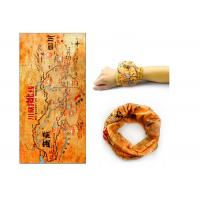 Comfortable Gold  Running Scarf ,  Tube Scarf Good Flexibility Absorb Sweat Manufactures
