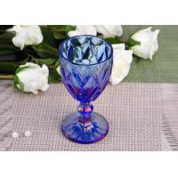 Antique colored glass candle holders Iridescent Blue Stemware Embossed Manufactures