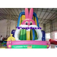 Big White Rabbit Inflatable Water Slide Manufactures
