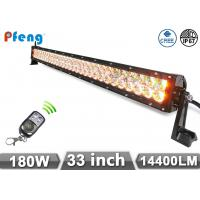 33 inch 180W Cree Led Light Bar With Amber and White Color Flashing Manufactures