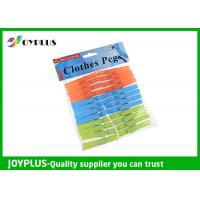 PP Material Colored Plastic Clothespins Set Customized Color / Size Available Manufactures