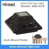 Buy cheap 4''x4'' inch Square Solar Post Cap Light Solar Fence Lights Decor for 4x4 Wood Posts Fencing Solar Pillar Light Outdoor from wholesalers