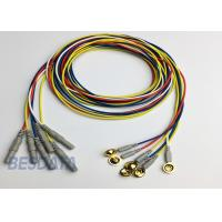 BCI Researcher EEG Electrode Cap Used Multicolor Coated Gold EEG Electrodes Din 1.5 Manufactures