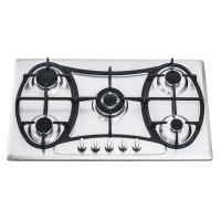 201 Stainless Steel Gas Hob 5 Burner 90cm With Customized Logo Printed Manufactures