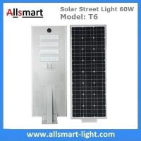 60W Integrated Solar Street Lights All in One Solar LED Street Light Radar Sensor Solar Lights with / without Pole Manufactures