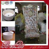Quality Pedicure spa with high back throne chair comfortable luxury pedicure spa massage chair for nail for sale