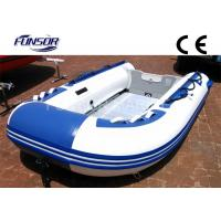 White And Blue 2.9m Four Person Foldable Inflatable Boat With CE Approved Manufactures